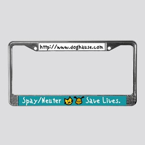 Save Lives Spay & Neuter License Plate Frame